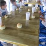 Jardinera participó del taller de pan…